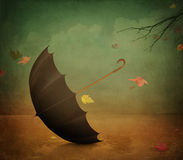 Affiche Drie van de herfst Stock Fotografie