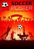 Affiche du football illustration stock