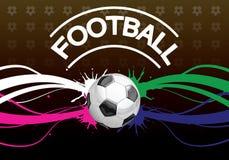 Affiche du football Image libre de droits