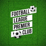 Affiche du football du football Fond de terrain de football du football avec ainsi illustration stock