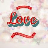 Affiche du jour de Valentine ENV 10 Images stock
