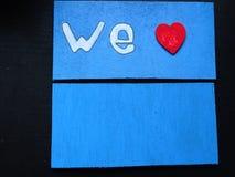 Affiche en détail de nous aimons Photo stock