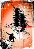 Affiche faisante de la planche à roulettes modifiée Images stock