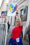 Affiche faite maison sur la paix mars Images libres de droits