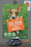 Affiche favorisant la collection des excriments du chien par des propriétaires extérieurs Images stock