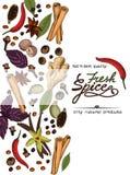 Affiche fraîche d'épice Photos stock