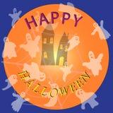 Affiche gelukkig Halloween voor decoratie van vakantie Royalty-vrije Stock Foto