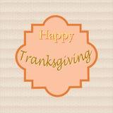 Affiche - gelukkige dankzegging, in het kader die de textuur gebruiken Stock Foto's
