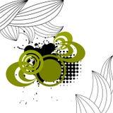 Affiche grunge avec des feuilles Photos stock