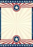 Affiche grunge d'étoile des Etats-Unis photos libres de droits