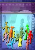 Affiche grunge d'argile d'enfants illustration libre de droits
