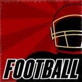 Affiche grunge de style de vintage typographique de football américain illustration libre de droits