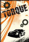 Affiche grunge de vecteur illustration stock