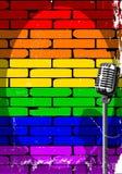 Affiche Grunge van de regenboog de Muzikale Gebeurtenis stock illustratie