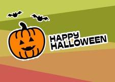 Affiche heureuse d'illustration de Halloween illustration libre de droits