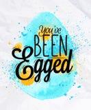 Affiche heureuse d'oeuf de pâques Images libres de droits