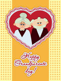 Affiche heureuse de jour de grands-parents Images libres de droits