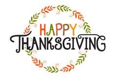 Affiche heureuse de lettrage de typographie de thanksgiving images libres de droits