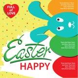 Affiche heureuse de Pâques Photographie stock