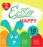 Affiche heureuse de Pâques Photos libres de droits