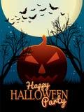 Affiche heureuse de partie de Halloween Image stock