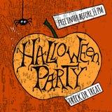 Affiche heureuse de partie de Halloween Illustration de vecteur Photo libre de droits
