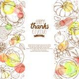 Affiche heureuse de thanksgiving Image stock