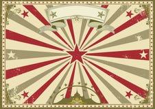 Affiche horizontale de vintage de cirque illustration libre de droits