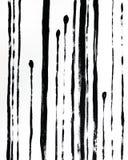 Affiche intérieure abstraite à la mode Illustration tir?e par la main noire Rayures sur le fond blanc illustration de vecteur