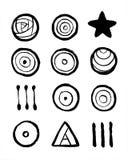 Affiche intérieure de hippie avec la géométrie pour imprimer la qualité de haute résolution illustration de vecteur