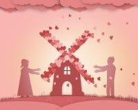 Affiche interminable de conte de fées d'amour Photographie stock