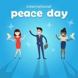 Affiche internationale de vacances de paix de groupe divers de personnes Photo libre de droits