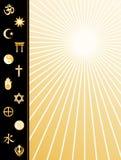 Affiche JPG+EPS de religions du monde Photo libre de droits