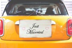 Affiche juste mariée Photographie stock libre de droits