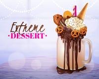 Affiche légère de fond brouillée par dessert extrême illustration stock