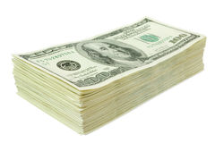 affiche la pile de papier d'argent du dollar Image stock