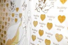 Affiche le jour du mariage Photos libres de droits