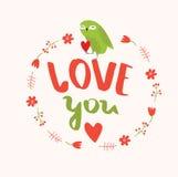 Affiche` Liefde u ` Royalty-vrije Stock Afbeelding