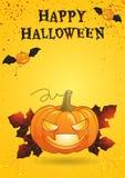 Affiche lumineuse heureuse de couleur de Halloween Photographie stock libre de droits