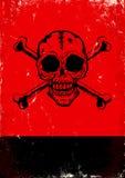 Affiche met de schedel Royalty-vrije Stock Afbeeldingen