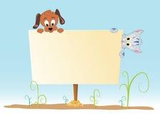 Affiche met dier Stock Afbeeldingen