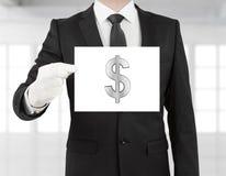 Affiche met dollarsymbool Royalty-vrije Stock Afbeeldingen