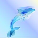 Affiche met een springende dolfijn Royalty-vrije Stock Fotografie