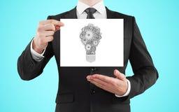 Affiche met lamp Stock Foto's