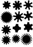 Affiche met tandwiel. vector illustratie Royalty-vrije Stock Foto