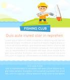 Affiche met visser Royalty-vrije Stock Afbeelding
