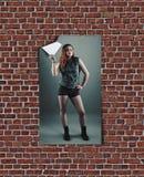 Affiche met vrouwen Stock Foto's