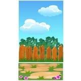 Affiche mignonne avec la barrière en bois pour une maison de campagne, un parc ou un cottage Illustration de plan rapproché de ba Images stock