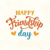 Affiche mignonne de jour heureux d'amitié, rétro style de vintage illustration de vecteur