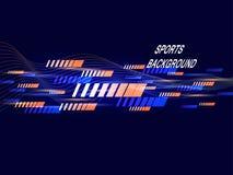 Affiche moderne de couleur pour des sports Fond abstrait à la mode La composition des formes géométriques Illustration de vecteur illustration stock
